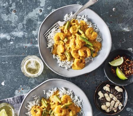 Yellow Thai Prawn Curry