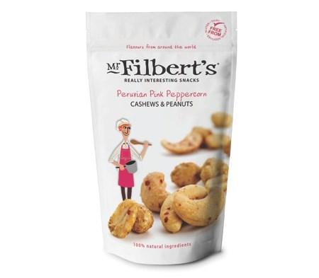 Mr Filberts - Peruvian Pink Peppercorn Cashews & Peanuts