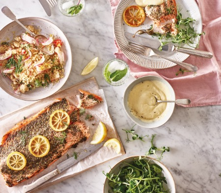 Side of Scottish Salmon with Lemon & Dill