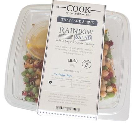 Rainbow Salad with a Ginger, Lemongrass & Sesame Dressing