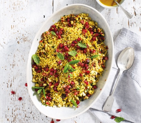 Moroccan Fruity Couscous with a Harissa Dressing