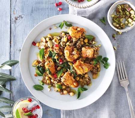 Middle Eastern Chicken with Mixed Spiced Grains