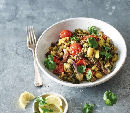 Spinach, Lentil & Potato Masala
