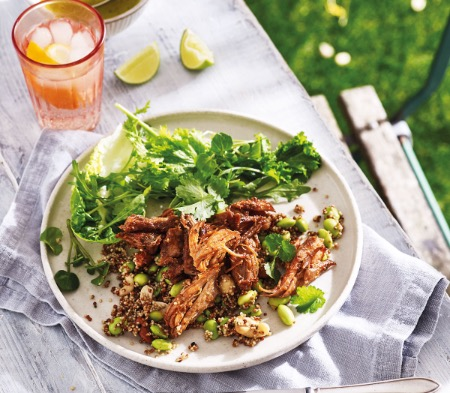 Slow-Roasted Pork with an Asian BBQ Sauce