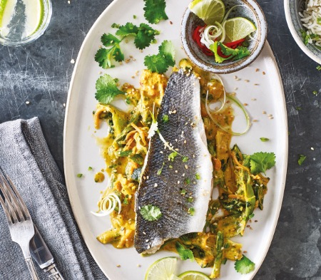 Thai Steamed Sea Bass