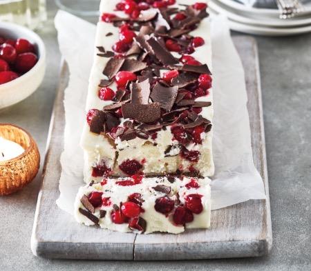White Chocolate & Cranberry Terrine