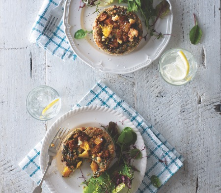 Butternut Squash & Spinach Tartlets