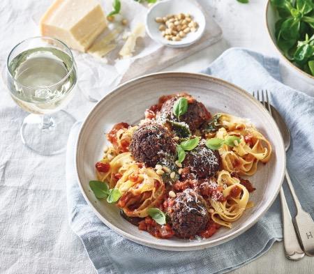 Veggie Meatballs in a Rustic Tomato Sauce