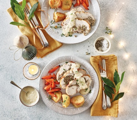 Stuffed Chicken Cushion with English Sparkling Wine