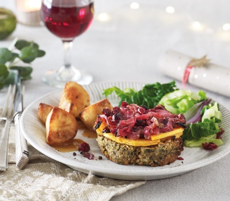 Butternut Squash Nut Roast Stacks