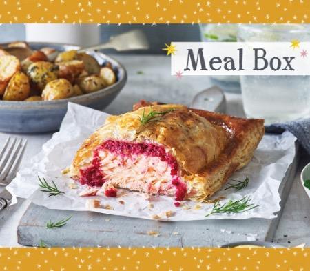 Salmon Wellington Meal Box for 2