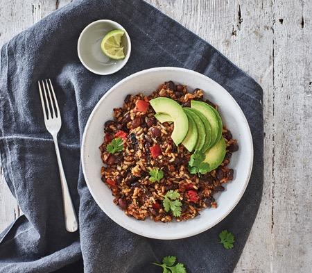 Mexican Black Bean & Mushroom Chilli