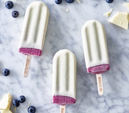 Blueberry, Yogurt & White Chocolate Lolly