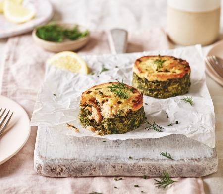Salmon, Horseradish & Spinach Stacks