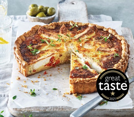 Roasted Pepper and Goat's Cheese Quiche