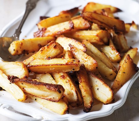 Roast Parsnips with Vicenza Cheese