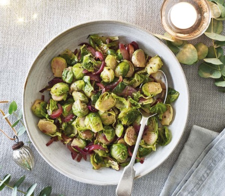 Brussels Sprouts with Sage and Red Onion